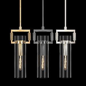 3D machinist glass cylinder pendant model