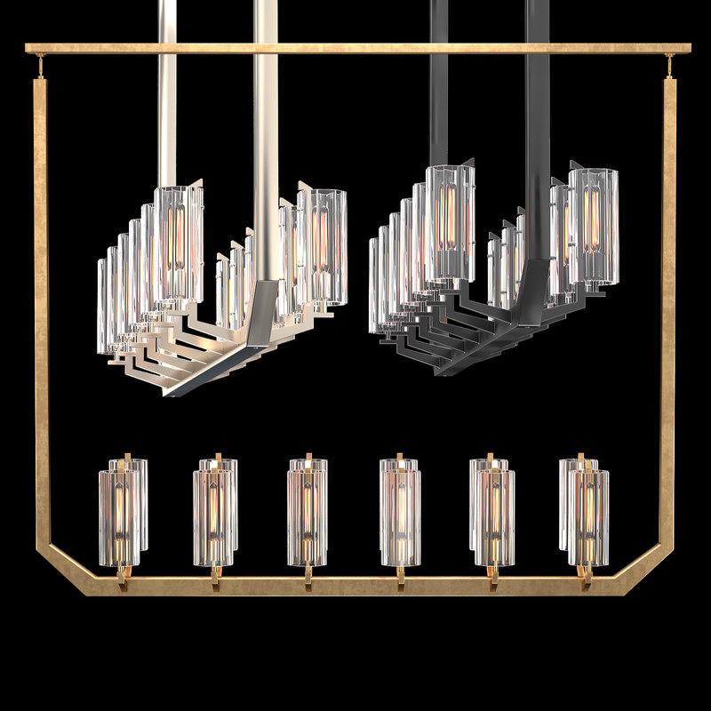 vendome linear chandelier 3D