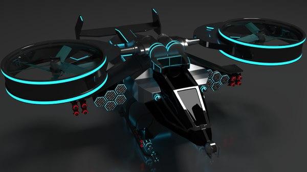 3D helicopter avtar blender