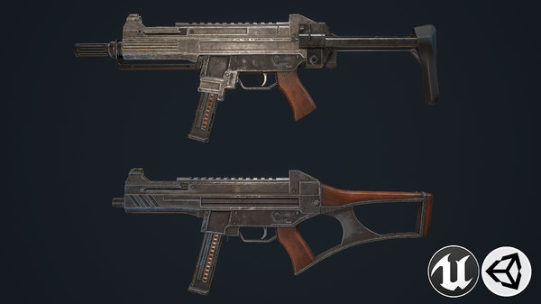 3D model assault rifles