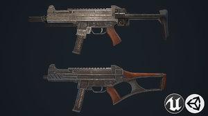 3D model assault rifles