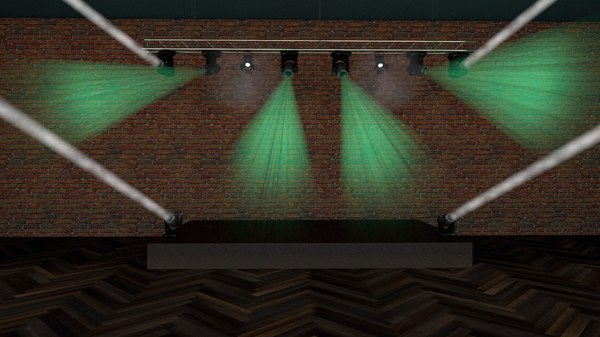 3D model lights truss