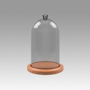 3D glass dome model