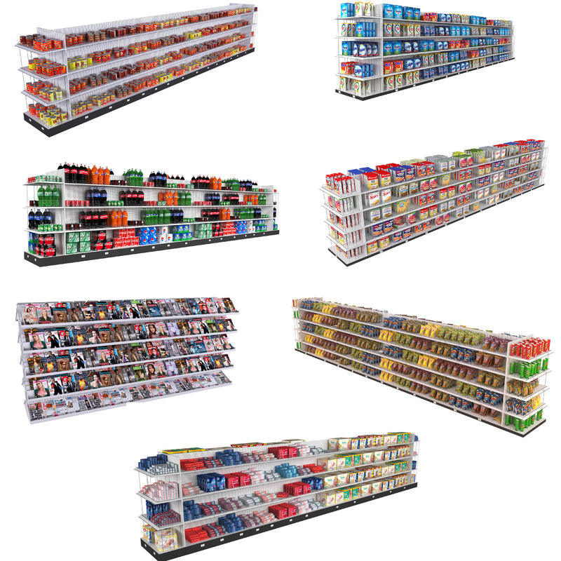 supermarket shelving model