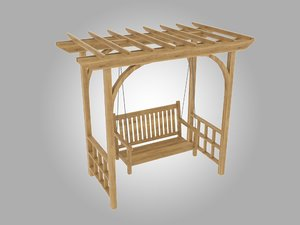 pergola furniture 3D model