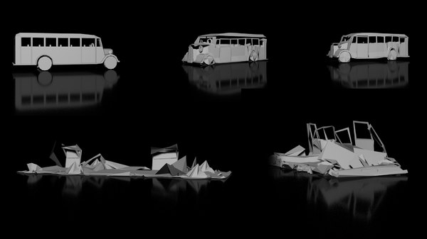 3D point level animation pla model