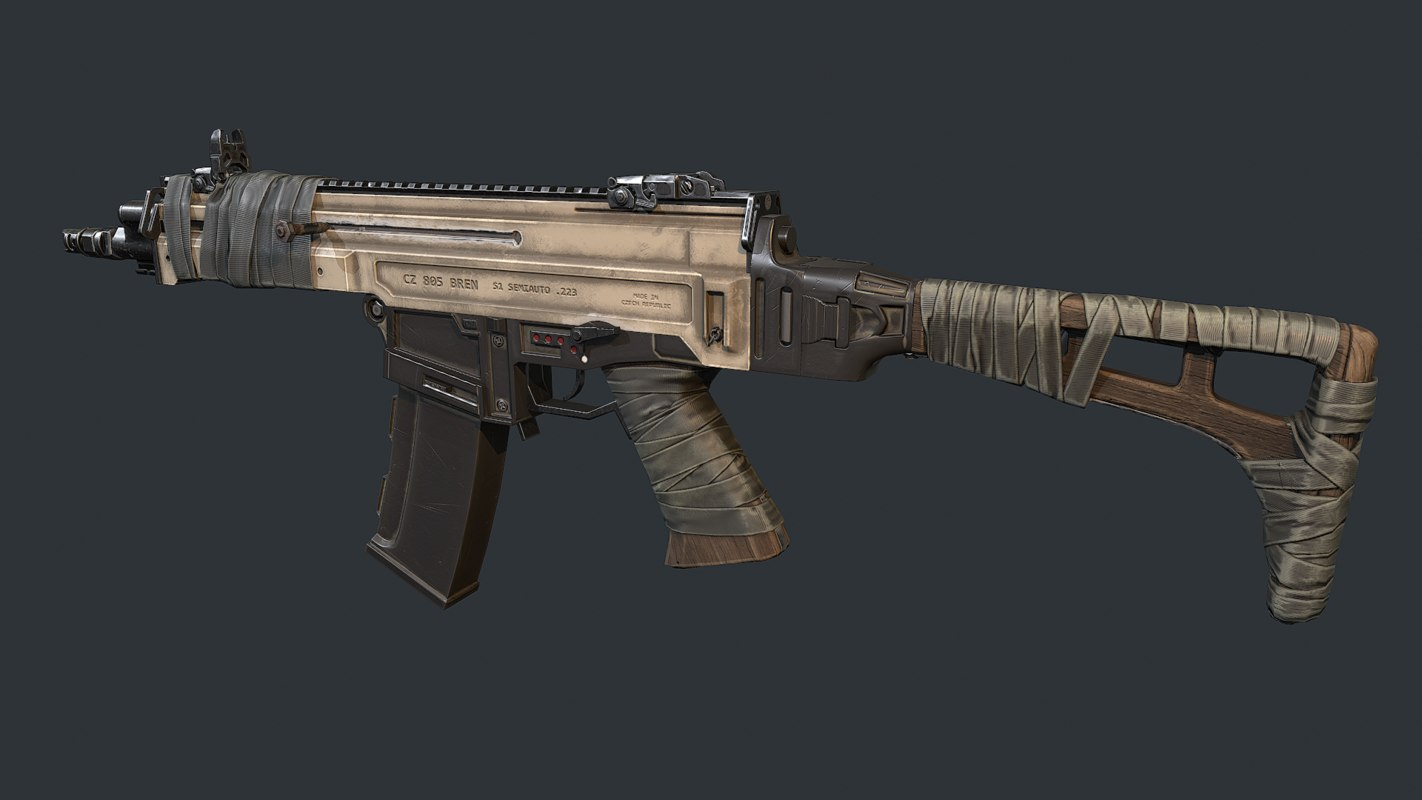 3D model ak12m weapon