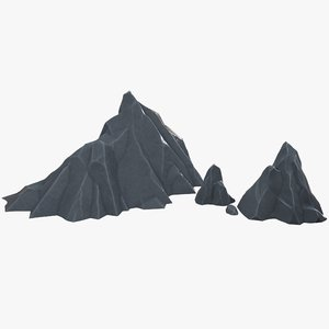 3D stylized rocks model