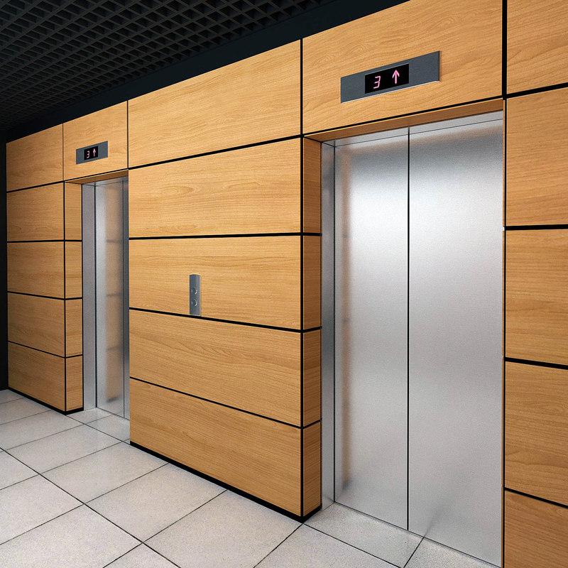 3D elevator set 02