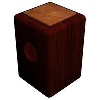 cajon - mahogany 3D model