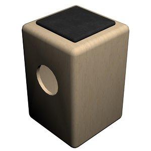 cajon - birch percussion 3D