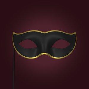mardi gras mask 3D model