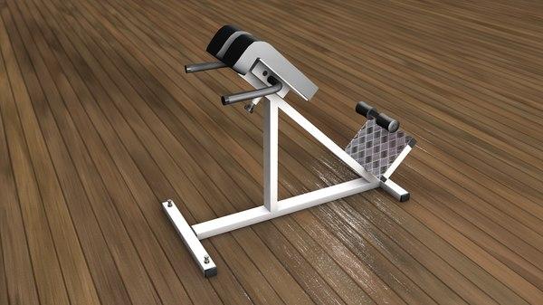 lumbar gym equipment training 3D model
