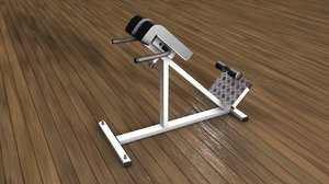lumbar gym equipment training 3D model