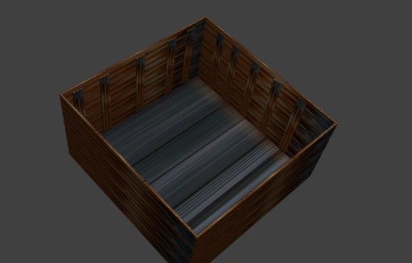 simple crate 3D model