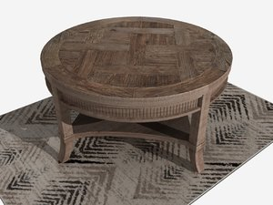 coffee table rug 3D model