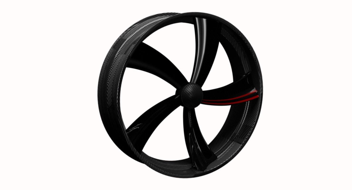 3D wheel design carbon