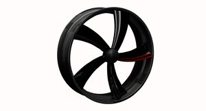 3D wheel design carbon
