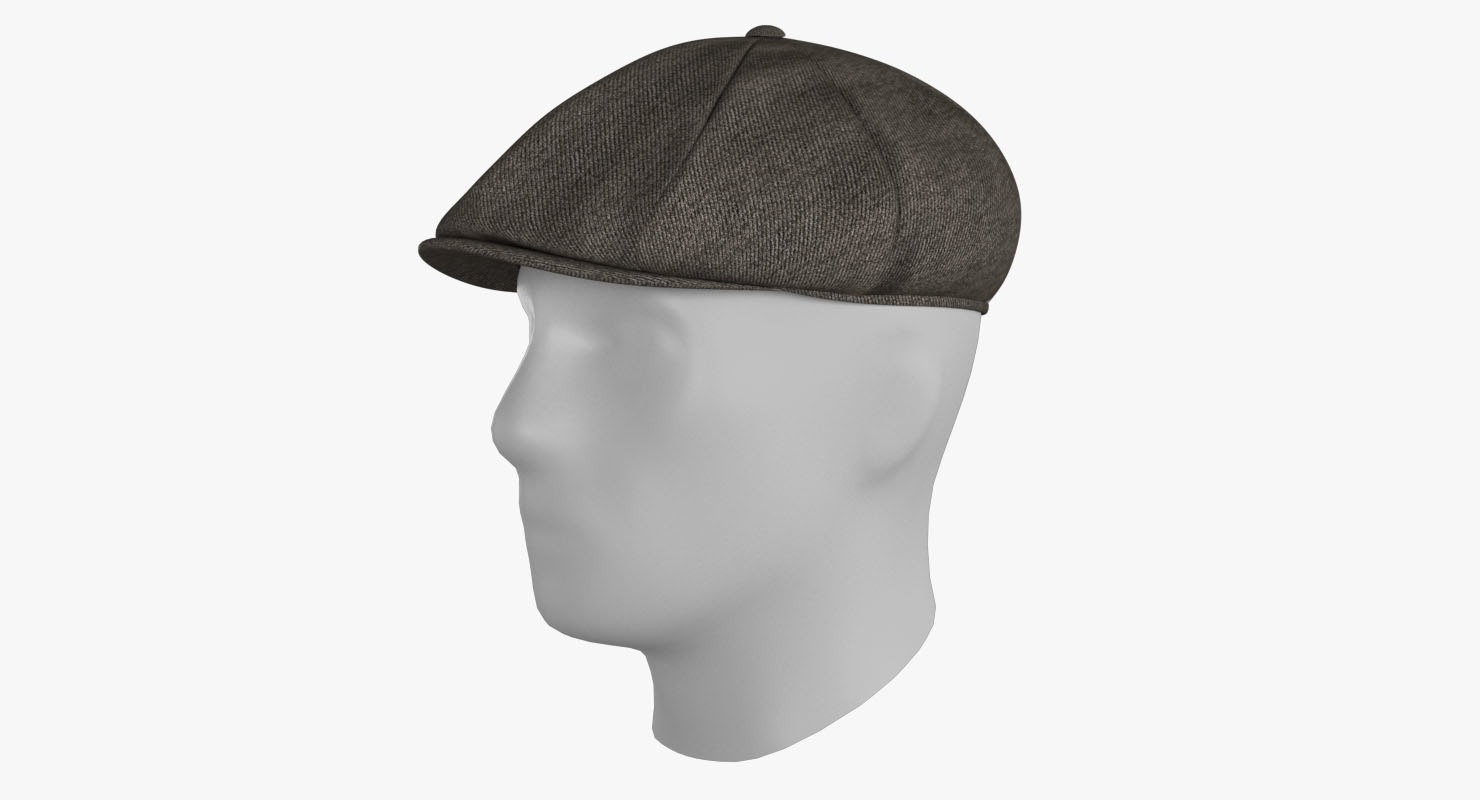 3D newsboy cap