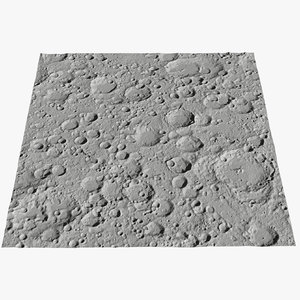 3D moon surface v2 model