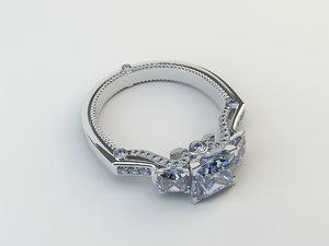 ring white gold 3D