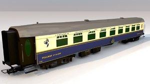 3D train railway wagon cart model