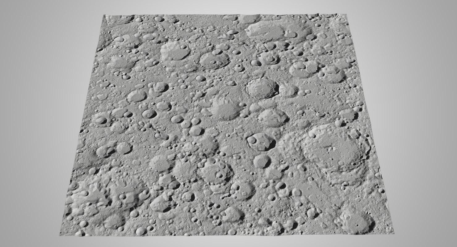 3D moon surface v2 model