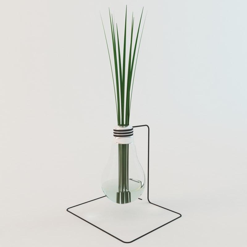 3D decoration grass lamp model