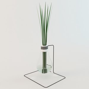 3D decoration grass lamp model