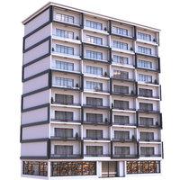 Modern Apartment Building 10