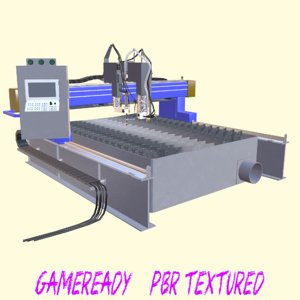 laser cutter 3D model