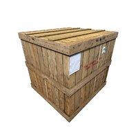 wood cargo box 3D model
