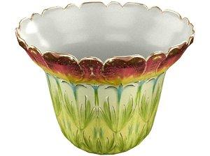 flower flowerpot pot 3D model