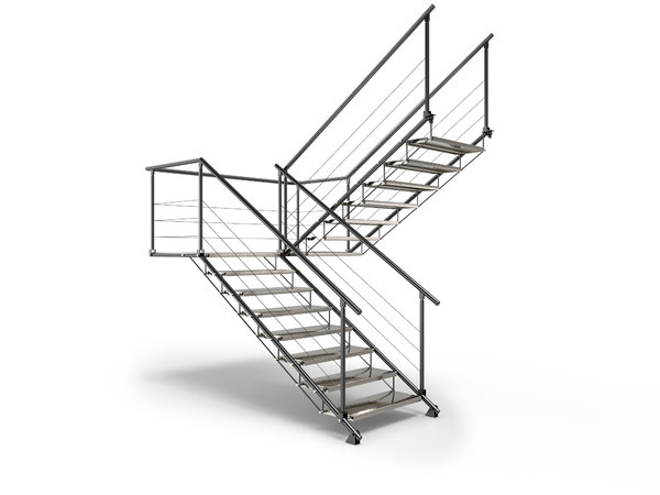 3D metal stair staircase