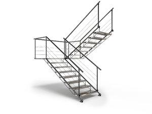 3D metal stair staircase