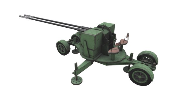 anti aircraft twin gun model