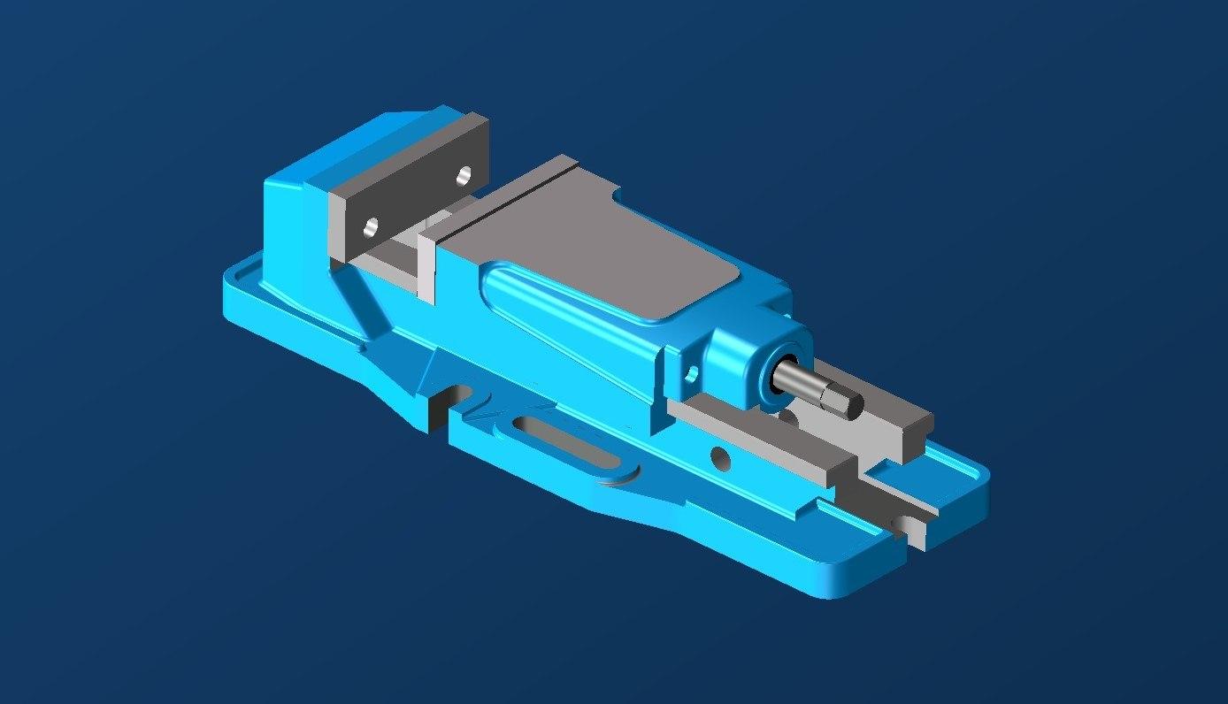 3D cnc power vice x model