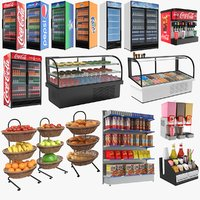 3D display stands refrigerator model