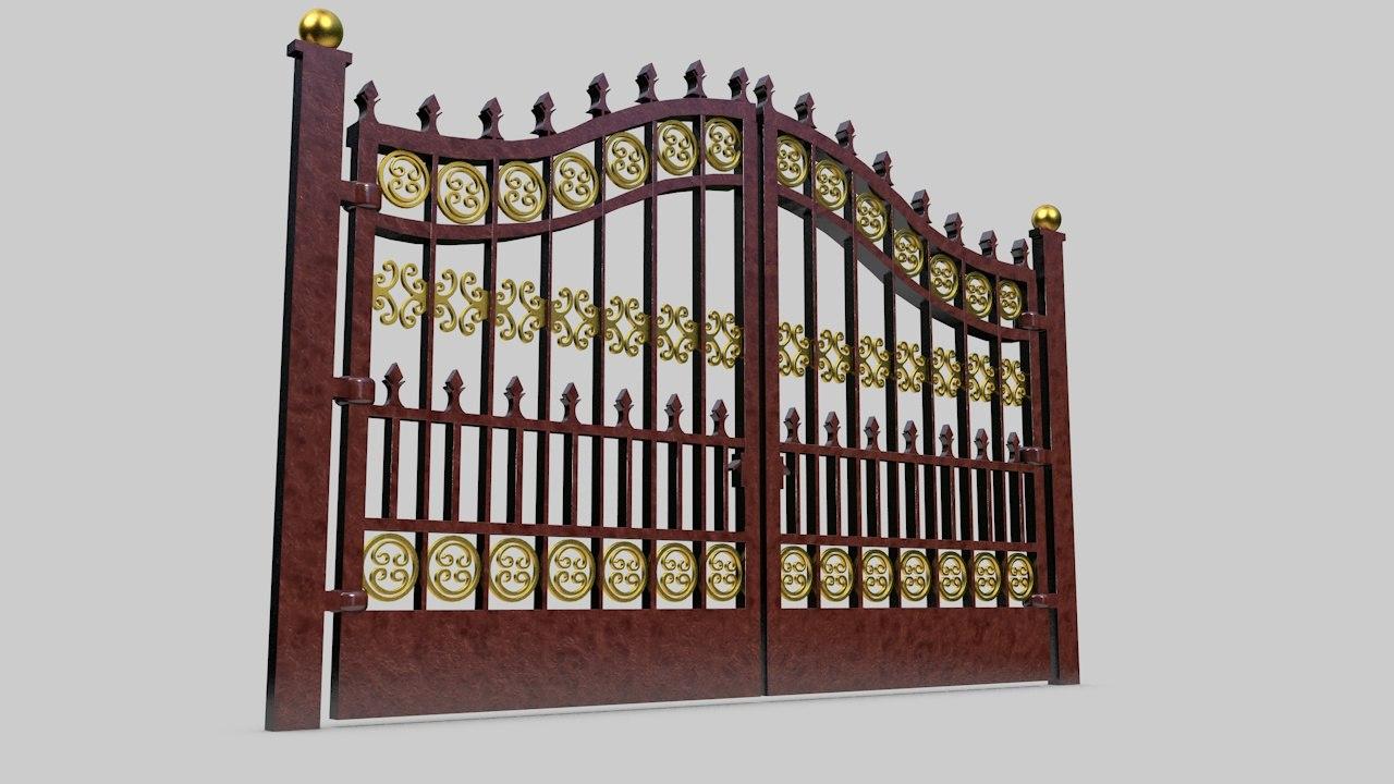 3D ferforge gate model