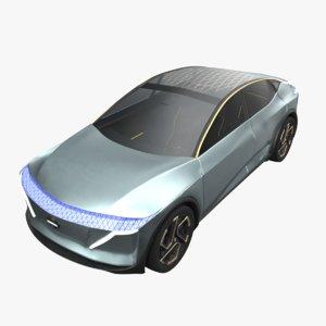 3D nissan ims sedan auto model