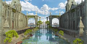 3D fantasy seascape model