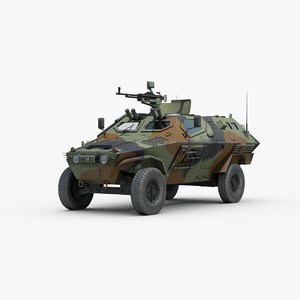 3d model turkish otokar cobra armored