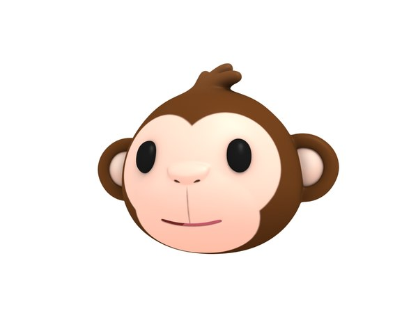 monkey head cartoon 3D model