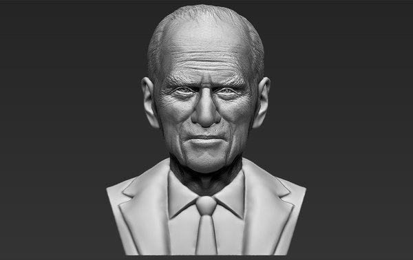 prince philip bust ready 3D model