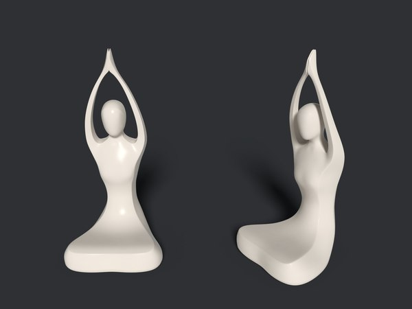 abstract meditation statue model