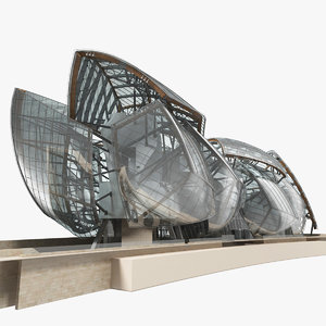 3D model modern building foundation