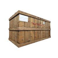 3D wood cargo box model