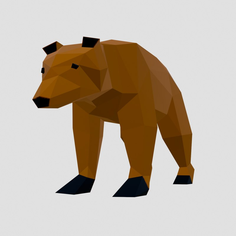3D style pack animals simple model