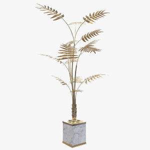 ivete palmtree lamp light 3D model