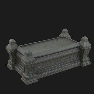 3D celtic sarcophagus
